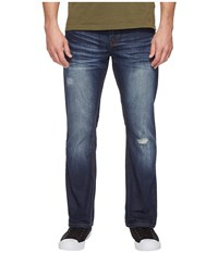 Buffalo David Bitton King Slim Bootcut Jeans In Medium Repaired Wash Medium Repaired Wash Men's Jeans Blue