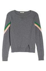 Ragdoll Rainbow Stripe Sweatshirt Grey Multi