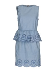 Twin Set Jeans Short Dresses Blue