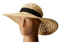 Vince Camuto Open Weave Floppy Hat Natural Caps Beige