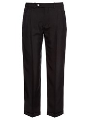 Maison Martin Margiela Straight Leg Silk Trousers Black