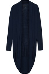 Alice Olivia Draped Wool And Cashmere Blend Cardigan Blue