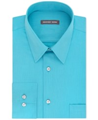 Geoffrey Beene Men's Classic Fit Wrinkle Free Bedford Cord Dress Shirt Bright Blue