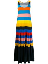 Chinti And Parker Colour Block Shift Dress Blue