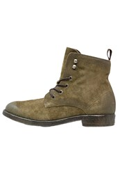 Mjus Hal Laceup Boots Faggio Oliv