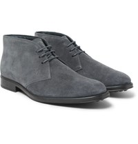 Tod's Suede Chukka Boots Anthracite