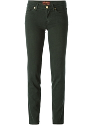 7 For All Mankind Straight Leg Low Rise Jeans Green