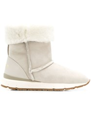 Woolrich Lined Boots Grey