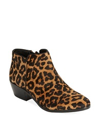 Sam Edelman Petty Brahman Hair Booties Brown Leopard