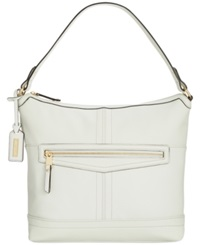 Tignanello Pretty Pockets Leather Hobo White