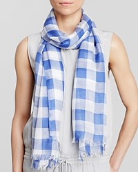 Aqua Gingham Scarf 100 Exclusive Dazzling Blue White