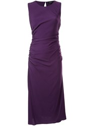 Theory Sleeveless Midi Dress Purple