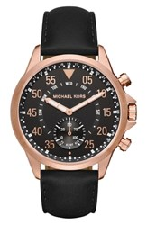 Michael Kors Gage Leather Strap Smart Watch 45Mm