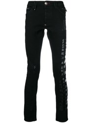 Philipp Plein Logo Slim Fit Jeans Black