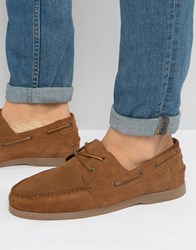 Asos Boat Shoes In Tan Suede With Gum Sole Tan
