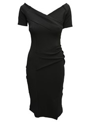 Feverfish Off Shoulder Dress Black