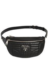 Prada Small Quilted Soft Leather Belt Pack Black