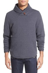 Billy Reid Barnes Shawl Collar Jersey Sweater Blue