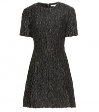 Carven Textured Mini Dress Black