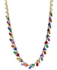 Effy Collection Watercolors By Effy Multi Gemstone 17 3 4 Ct. T.W. And Diamond 1 Ct. T.W. Statement Necklace In 14K Gold