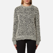 Samsoe And Samsoe Women's Jois O Neck Jumper Black Melange Multi
