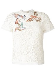 Red Valentino Macrame T Shirt White