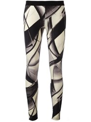 Fausto Puglisi Printed Leggings Black