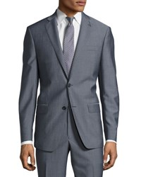 Michael Kors Slim Fit Two Button Two Piece Suit Blue Gray