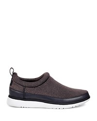 Ugg Riviera Leather Trim Slip On Sneakers Black