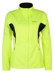 Gore Running Wear Essential Sports Jacket Neon Yellow Black