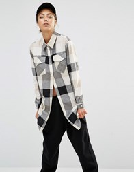 Daisy Street Shirt With Pockets In Check Multi
