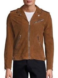 The Kooples Destroyed Suede Jacket Brown