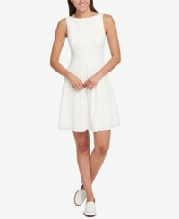 Tommy Hilfiger Fit And Flare Dress Created For Macy's Ivory