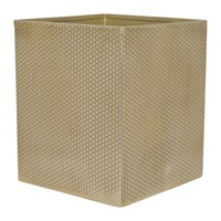 Amara Antique Gold Honeycomb Waste Bin