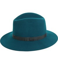Rag And Bone Wide Brim Wool Fedora Deep Teal