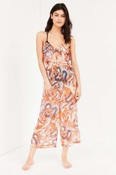 Out From Under Keyhole Tie Up Jumpsuit Multi