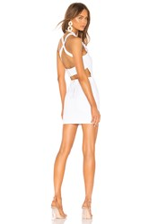 By The Way Annamarie Halter Mini Dress White