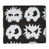 Mcq By Alexander Mcqueen Black And White Monster Wallet
