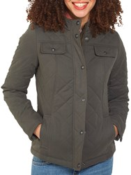 Fat Face Quilted Shillington Jacket Khaki