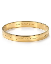 Kate Spade New York Bridesmaid Engraved Idiom Bangle Gold