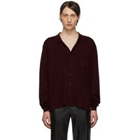 Maison Martin Margiela Burgundy Gauge 18 Interlock Shirt