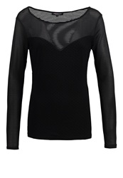 Morgan Tois Long Sleeved Top Noir Black