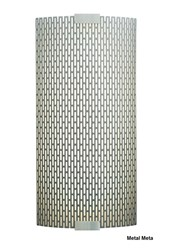 Lbl Lighting Omni With Cover Medium Wall Light Pw561metsicf1he Metal Meta Silver Compact Fluorescent 120Volt Brown