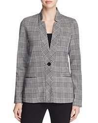 B Collection By Bobeau Becki Plaid Blazer Black White Plaid
