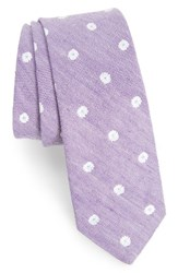 Nordstrom Men's Men's Shop Hogard Floral Linen And Silk Skinny Tie