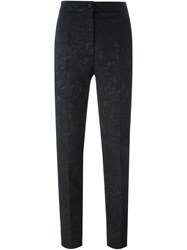 Dolce And Gabbana Brocade Trousers Black