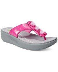 Easy Spirit Bejewel Flip Flop Sandals Women's Shoes Dark Pink