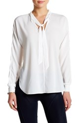 David Lerner Long Sleeve Dolman Blouse White