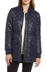 French Connection Women's Quilted Anorak Jacket Utility Blue