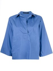 Sofie D'hoore Boxy Pocket Blouse Blue